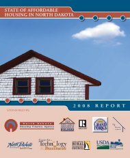 State of affordable housing in North Dakota : 2008 report.