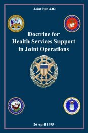 JP 4-02 Doctrine for Health Service Support in Joint Operations - BITS