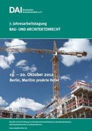 20. Oktober 2012 - Deutsches Anwaltsinstitut ev