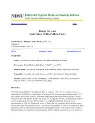 Finding Aid to the North Dakota Children's Home Finder - Libraries