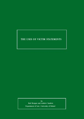 the uses of victim statements - National Police Library Online ...