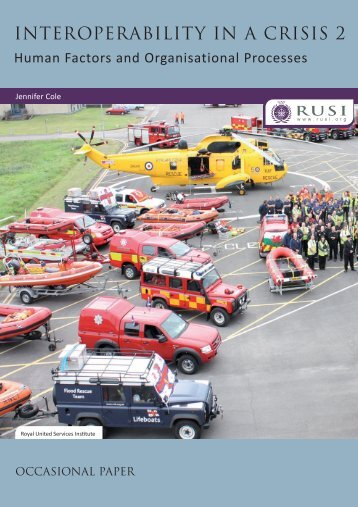 INTEROPERABILITY IN A CRISIS 2 - RUSI