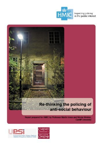 Re-thinking the policing of anti-social behaviour - HMIC