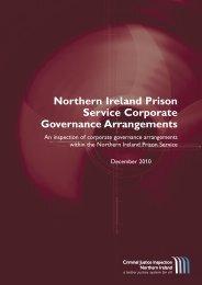 Northern Ireland Prison Service Corporate Governance ... - cjini