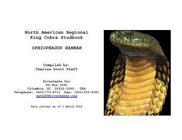 North American Regional King Cobra Studbook OPHIOPHAGUS ...
