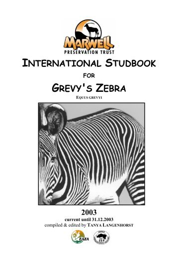 international studbook grevy's zebra - Library - San Diego Zoo