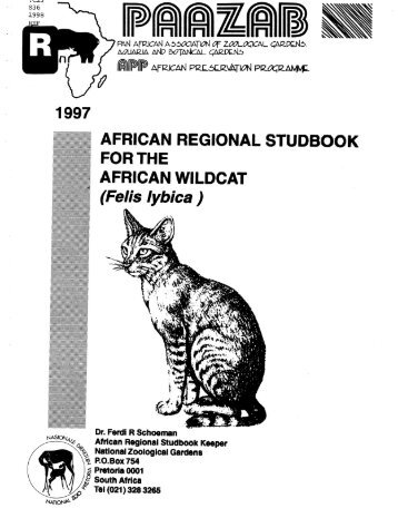 199 ~ AFRICAN REGIONAL STUDBOOK - Library - San Diego Zoo