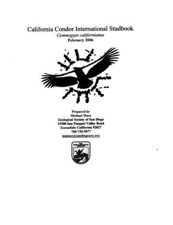 California Condor International Studbook - Library - San Diego Zoo