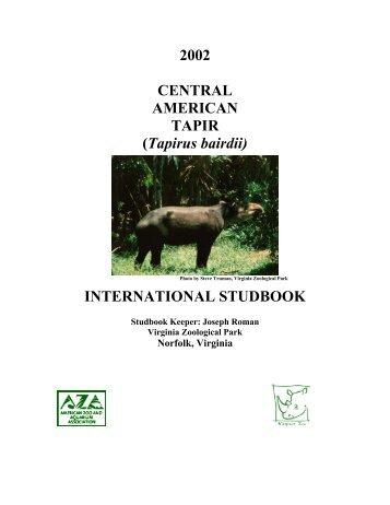 INTERNATIONAL STUDBOOK - Library - San Diego Zoo
