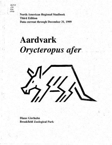 "Aardvark 'Orycteropus ""afer - Library - San Diego Zoo"