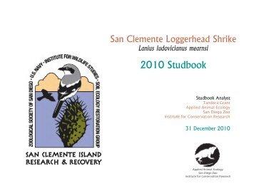 2010 Studbook - Library - San Diego Zoo