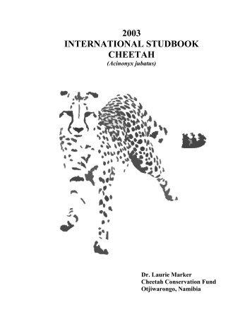 2003 - Cheetah Conservation Fund