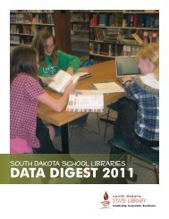 DATA DIGEST 2011 - South Dakota State Library