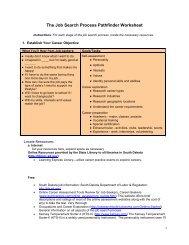 The Job Search Process Pathfinder Worksheet - South Dakota State ...