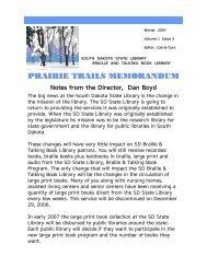prairie trails memorandum um m prairie trails memorand e trails ...