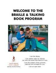 the braille & talking book program - South Dakota State Library