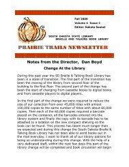 pr prair air iie tr e trails newslette ails newsletter - South Dakota ...