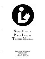 South Dakota Public Library Trustees Manual - South Dakota State ...