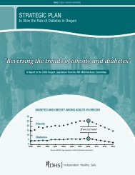 """""""Reversing the trends of obesity and diabetes"""" - Public Health"""