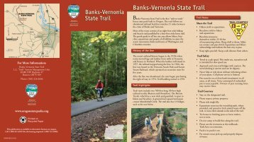 Banks-Vernonia State Trail map - Oregon State Parks