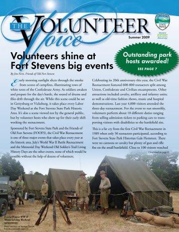 Volunteers shine at Fort Stevens big events - Oregon State Library ...