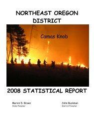 northeast oregon district 2008 statistical report - State of Oregon