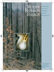 Woody Biomass Energy - Oregon State Library: State Employee ...