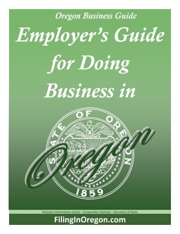 FilingInOregon.com Oregon Business Guide - Oregon State Library ...