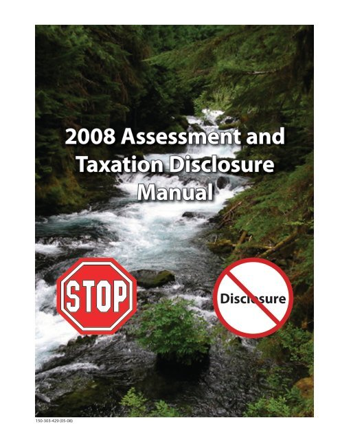 Assessment and Taxation Disclosure Manual - Oregon State Library ...