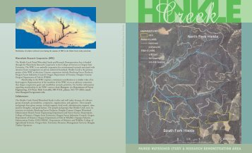 Hinkle Creek Paired Watershed Study and ... - State of Oregon