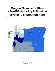 Oregon Balance of State HIV/AIDS Housing & Services Systems ...