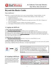 Beyond-the-Basics Guide - College of St. Catherine Libraries - St ...