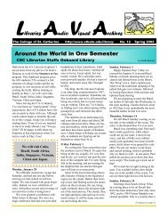Spring 2002 Newsletter No12.pub - College of St. Catherine Libraries