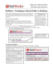 RefShare - College of St. Catherine Libraries