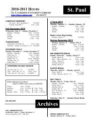 StP Mpls Library Hours 10-11-revMAR.pdf - College of St. Catherine ...