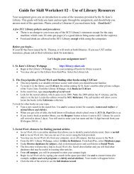 Guide for Social Work Library Research Assignment - College of St ...
