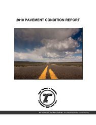 2010 PAVEMENT CONDITION REPORT - State of Oregon