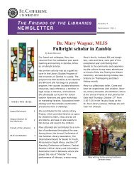 Dr. Mary Wagner, MLIS Fulbright scholar in Zambia - College of St ...