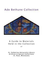 Guide to the Ade Bethune Collection - College of St. Catherine ...