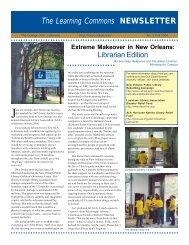 The Learning Commons NEWSLETTER - College of St. Catherine ...