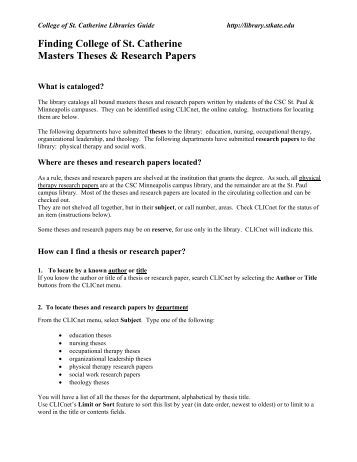 a college paper example How to write a research paper Rice University Let s  look at