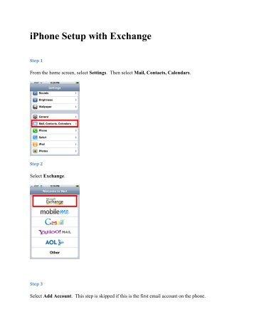 iPhone Setup with Exchange - Sullivan University | Library