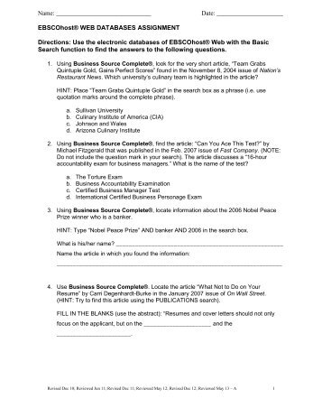 EBSCOhost Web - Sullivan University | Library