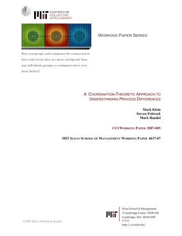 Working Paper Series - MIT Center for Collective Intelligence