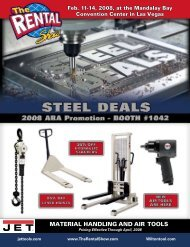 MATERIAL HANDLING AND AIR TOOLS - JET Tools