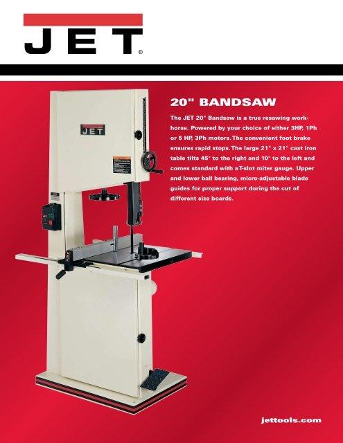 "20"" BANDSAW - JET Tools"