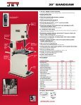 """20"""" BANDSAW - JET Tools - Page 2"""