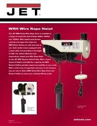 WRH Wire Rope Hoist - JET Tools