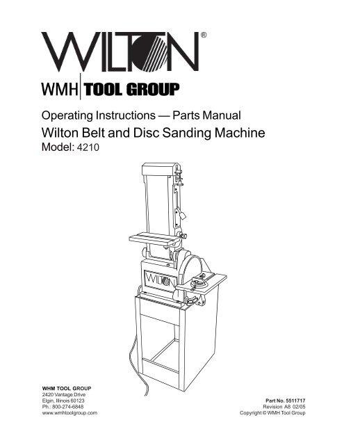 Wilton Belt And Disc Sanding Machine Jet Tools