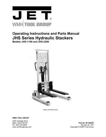operating instructions and parts manual high lift pallet jet tools rh yumpu com Tools Clip Art Router Tool